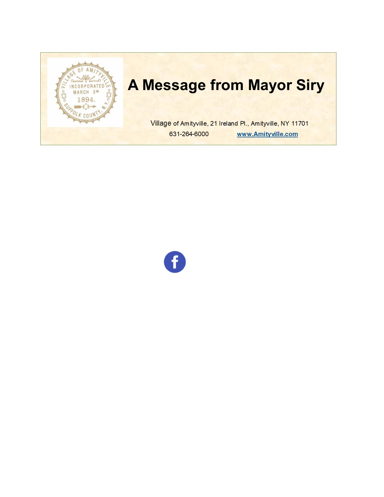 Icon of Mayor's Message